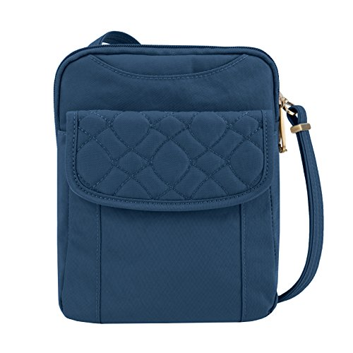 Travelon Anti-theft Signature Quilted Slim Pouch Bag, Ocean