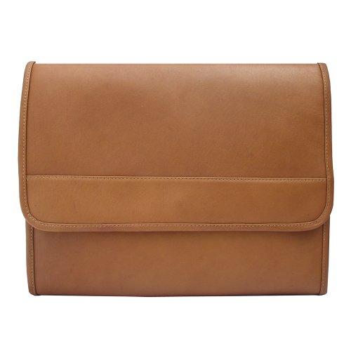 Piel Leather Envelope Portfolio, Saddle, One Size by Piel Leather