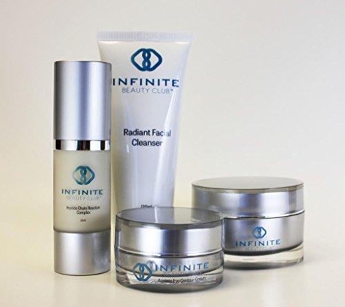Club de infinte beauté anti-âge rajeunir Kit de soins de la peau avec Ubiquinone(CoQ10), botanique Alpha-Hydroxy (AHA) et Tripeptides