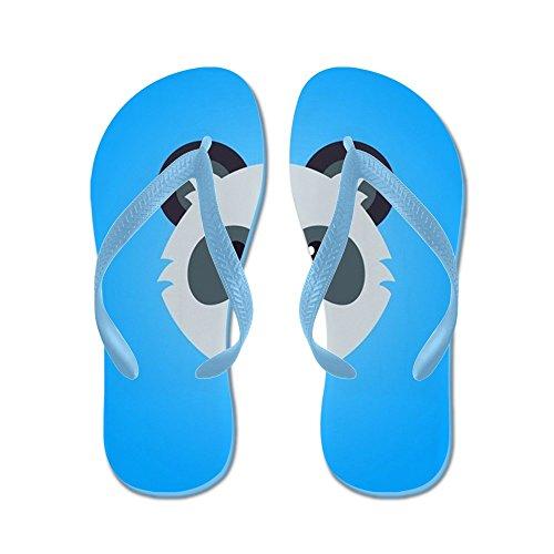 Cafepress Panda - Flip Flops, Grappige String Sandalen, Strand Sandalen Caribbean Blue