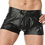 Sexy Leather Exotic Underwear Lingerie Sexual Apparel Bodysuits Shapewear Clubwear Men's Shorts Nightclub Stage Costumes