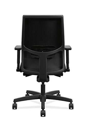HON Ignition Mid-Back Adjustable Lumbar Work - Chair for Office Black Fabric
