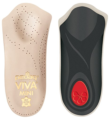 Pedag Viva Mini Orthotic with Semi-Rigid Arch Support, Metatarsal & Heel Pad, Leather, Tan, US W11/M8/EU41