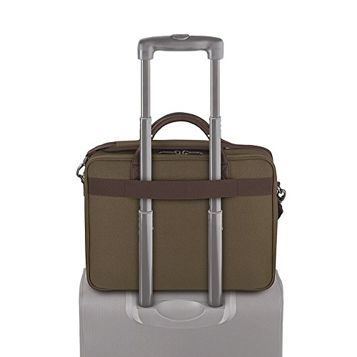 Solo Rucker 15.6 Inch Laptop Briefcase, Khaki by SOLO (Image #4)