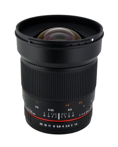 Rokinon RK24M-FX 24mm F1.4 Aspherical Lens for Fujifilm X-Mount Cameras