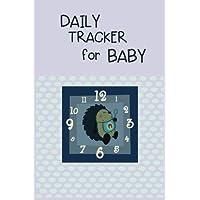 Rastreador diario para bebé: cuaderno de cuaderno forrado para escribir
