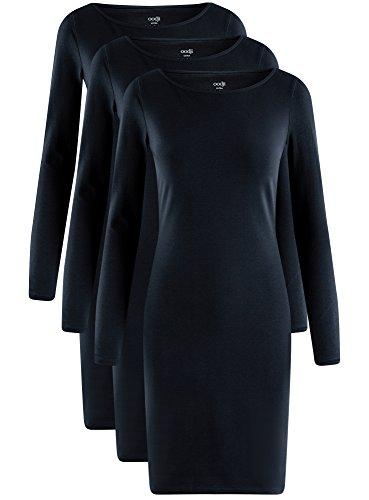 Moulante Lot de Ultra Robe Femme oodji 7900n 3 Bleu xA7SnWPw4