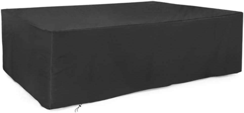 Gartenmöbel-Set, Gartentischabdeckung, Terrassenmöbel-Set, 210D, strapazierfähiges Oxford-Gewebe, für den Außenbereich, Gartenstuhl-Set (schwarz)
