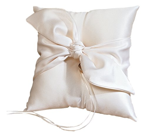 Love Knot Wedding Accessories Ring Pillow, Ivory ()
