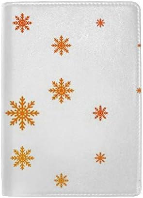 パスポートカバー ホルダー スキミング防止 多機能収納ポケット パスポートケース トラベルウォレット PUレザー エアチケット カードケース 収納ポーチ おしゃれ 綺麗な雪之柄 高級レザー 出張 便利グッズ 安全な海外旅行用