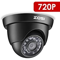 ZOSI 720P TVI 1500TVL 24PCS IR LED High Resolution Waterproof Outdoor Indoor Day Night Security Surveillance Home CCTV Camera 65ft (20m) IR Distance