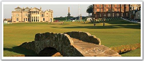 "JP London PAN5275 uStrip Saint Andrews Golf Club Scotland High Resolution Peel Stick Removable Wallpaper Sticker Mural, 48"" Wide by 19.75"" High"