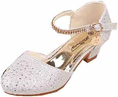 e5ce85f267b5 S Little Girls Pretty Party Dress Pumps Toddler Girl Heels Shoes Pump  Sandals Open