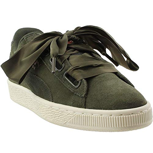 PUMA Womens Suede Heart Velvet Rope Athletic Shoes Green 7 ()