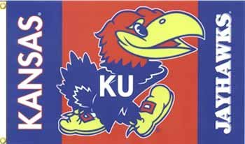 (NCAA Kansas Jayhawks 3-by-5 Foot Flag with Grommets)
