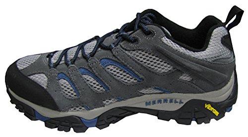 Merrell Herren Moab Ventilator Wanderschuhe Grau / Tahoe Blau