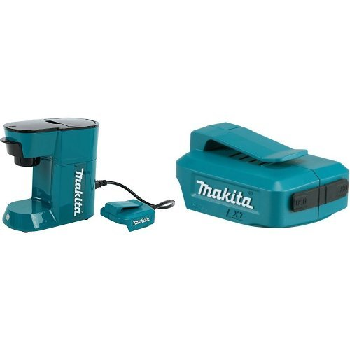 Makita DCM500Z 18V LXT Lithium-Ion Cordless Coffee Maker with ADP05 LXT Lithium-Ion Cordless Power Source, 18V