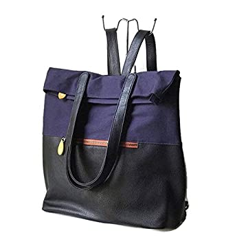 51076219cebe Image Unavailable. Image not available for. Color  convertible backpack  purse with organic cotton and vegan leather ...