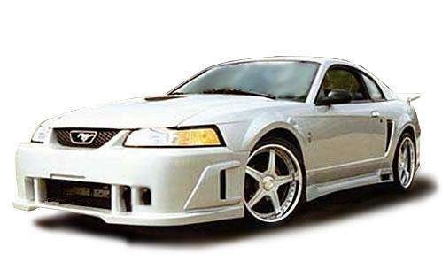 Ford Mustang 1999-2004 BW Spec Style 1 Piece Polyurethane Front Bumper manufactured by KBD Body Kits. Extremely Durable, Easy Installation, Guaranteed Fitment and Made in the (04 Ford Mustang Spec)
