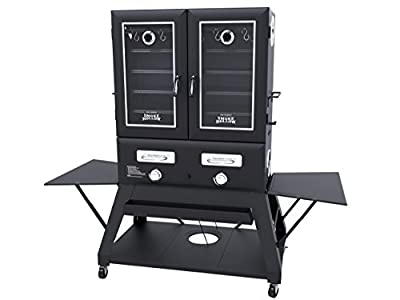 "Smoke Hollow SH3616DW Double Door Extra Wide Propane Gas Smoker, 3,000 sq. inches of total cooking surface, 72.5"" x 27.5"" x 66"" by Smoke Hollow"