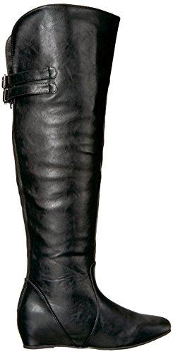 Brinley Co Women's Wing Over The Knee Boot Black ze7U7t