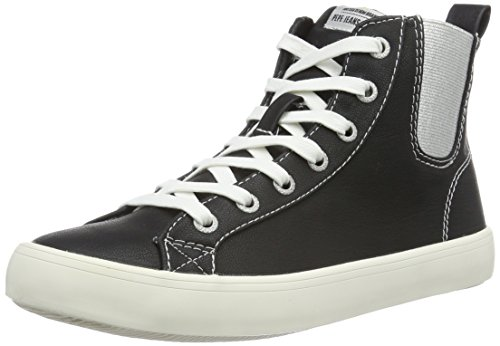 Pepe Jeans Clinton Chelsea, WoMen Hi-Top Trainers Black (Black 999)