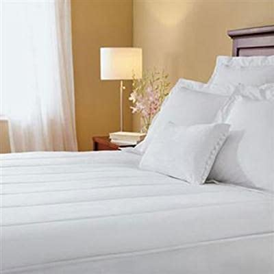 Sunbeam 145 Thread Count Quilted Heated Twin X-Long Mattress Pad, White