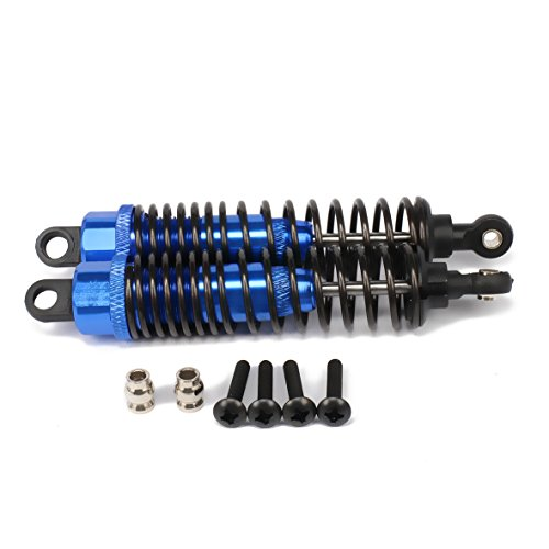 RCAWD Shock Absorber Damper F106004 100mm Oil Adjustable Alloy Aluminum for Rc Car 1/10 Buggy Truck Crawler Upgraded Hop-Up Parts HPI HSP Traxxas Axial Tamiya Redcat 2Pcs(Dark Blue) (Dampers Absorber Shock)
