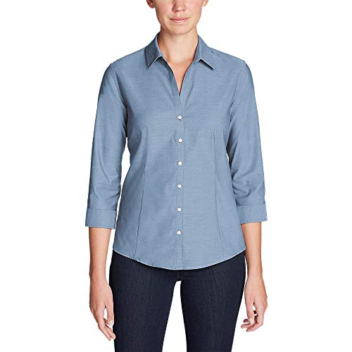 Eddie Bauer Women's Wrinkle-Free 3/4-Sleeve Shirt - Solid,