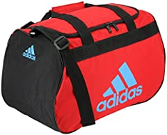 The perfect size bag for a quick trip to the gym or practice with a zippered main compartment that opens wide for easy packing. The shoulder strap is adjustable so you can wear it at the length you like and the haul handle is padded for comfo...