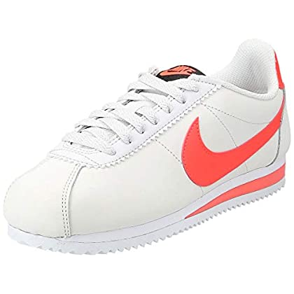 Nike Classic Cortez Leather W Trainers Women Beige/Orange Low top Trainers
