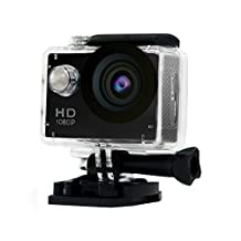 Mini Sports HD Action Camera DV A9 1080P 30M Waterproof Underwater Camera 120°Wide-angle Lens H.264 Helmet Cam (Black)