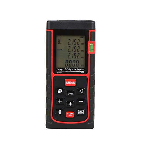 Retail Package RZ-E60 60m(162ft) Laser distance meter with bubble level Rangefinder Range finder Tape measure wholesale OEM