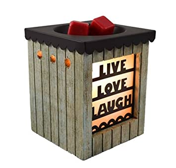 Scentsationals Candle Warmer Wax Warmer Live Love Laugh 25w Bulb