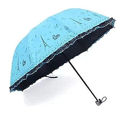 Little Princess Falda Tower paraguas de vinilo Uv tres paraguas ...