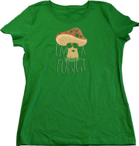 I'm a Fungi | Mushroom Gardener Humor Ladies Cut T-shirt Mushroom Fungus Humor Shirt
