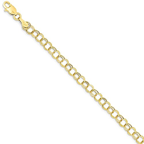 ICE CARATS 14k Yellow Gold Double Link Charm Bracelet 7 Inch Fine Jewelry Gift Set For Women Heart by ICE CARATS