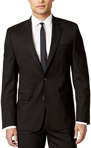 [해외]LAUREN RALPH LAUREN Solid Black Ultraflex Wool Blazer / RALPH LAUREN Men`s LMIS12MX0076 Solid Sport Coat Jacket Ultraflex Classic-Fit Blazer -Black- 48R