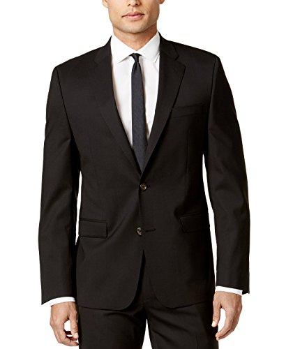 RALPH LAUREN Men's LMIS12MX0076 Solid Sport Coat Jacket Ultraflex Classic-Fit Blazer -Black- 48R