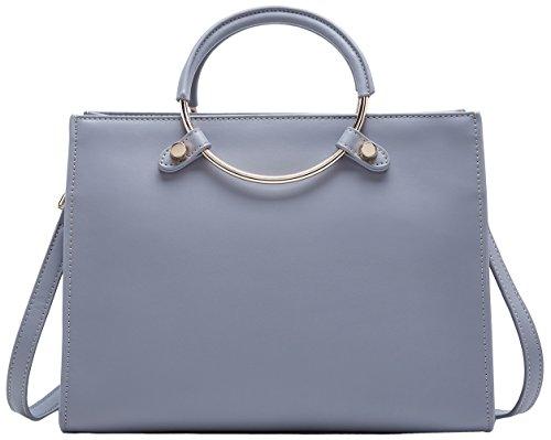 Fashion Ladies Stylish Top Handbags For Women Tote Bag Leather Handle Gray Boyatu qfpawIBp