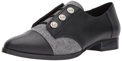Nine West Women's Here Leather Uniform Dress Shoe, Black/Multi Leather Leather, 8.5 M US by Nine West