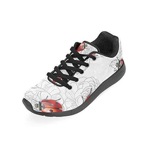 Athletic and InterestPrint US Running Ladybugs On Casual Women's Sneakers Flowers 6 Lightweight Pattern Print Size Shoes 15 PPwrWgq5