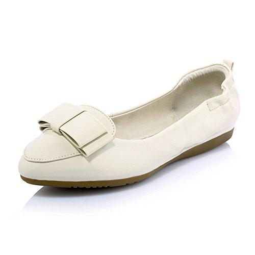 Superficial señora dulce rollo de huevo zapatos/zapatos de suela suave de fondo plano/zapatos puntiagudos en primavera A