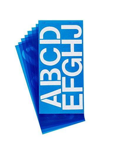 Westcott LetterCraft Stencil, Helvetica Font, 2-Inch Characters (SH2/15841) ()