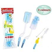 VERISA 5 in 1 Baby Bottle Cleaning Brush Set 5 Pcs Brush Cleaner Kit for Office Cups Sports Bottle, Baby Milk Bottle, Infant Pacifier, Nipple, Straw