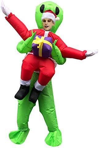 Novedad Navidad Alien Inflables Santa Claus Llevar Regalo Cosplay ...