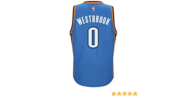Amazon.com: Adidas Mens Oklahoma City Thunder NBA Russell Westbrook Swingman Jersey Blue: Clothing