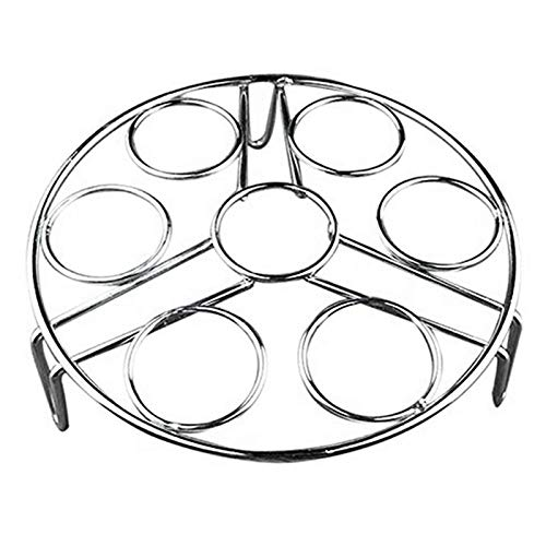 - Steamers - Stainless Steel Steamed Egg Rack Waterproof Steamer Home Multi Functional 7 Hole Steaming Grid - Clothes Small Heat Insert Garment Levels Kitchen Cleaner Square Basket Stock Steel Gri