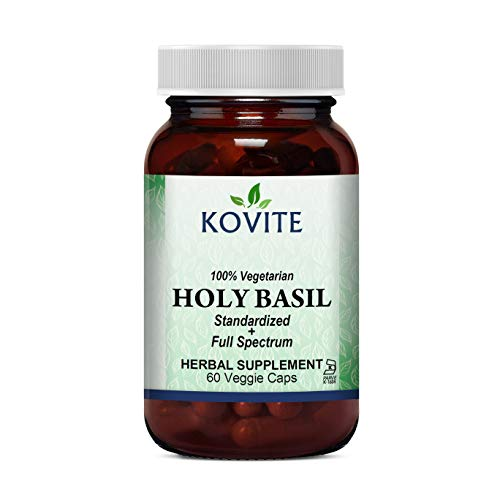 (Kovite Standardized + Full Spectrum Holy Basil - 60 Vegetarian Capsules Kosher)