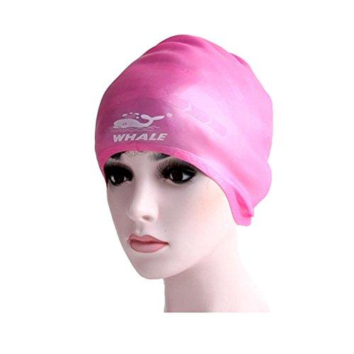 Wasserdicht Badekappe Schwimmen Hut mit ergonomischem Ohr Tasche, Rosa
